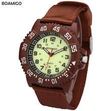 watches men luxury brand BOAMIGO military army sports watches Quartz Watch Nylon blue band wristwatches relojes hombre