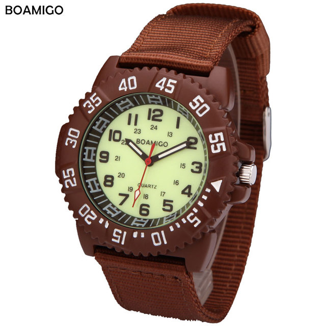 watches men luxury brand BOAMIGO military army sports watches Quartz Watch Nylon blue band wristwatches relojes hombre