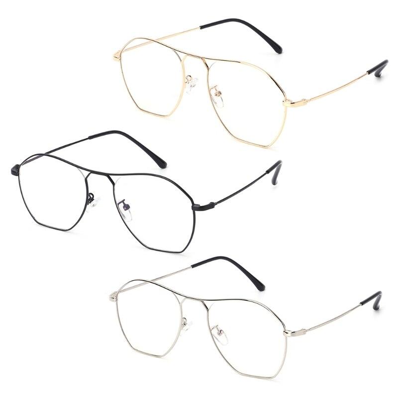 2018 New Optical Occhiali Eye Wear Irregolare Struttura In Metallo Lente Unisex Del Panno Accessori Per La Decorazione Superficie Lucente