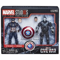 Marvel Legends 10th Anniversa 6 Captain America & Crossbones 2 Pack Set Action Figure Marvel Studios Civil War First Ten Years