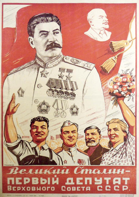 Soviet CCCP USSR Stalin First Deputy Of The Supreme Classic Wall Stickers Canvas Vintage Poster