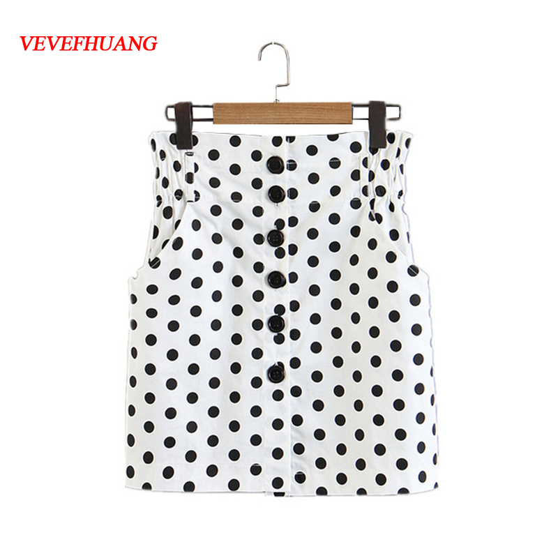 Summer Fashion Skirts Paper Bag Mini Skirt Button Fly High Waist Femme Blusas Shorts Feminine Clothes Casual Vestidos Bodycon