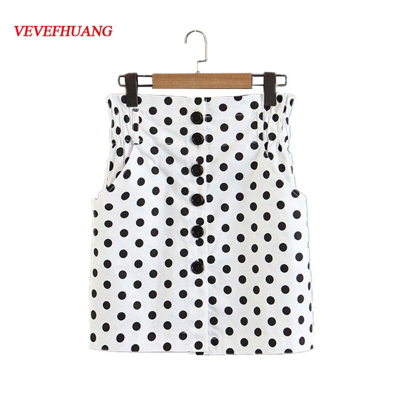 Summer Fashion Skirts Paper Bag Mini Skirt Button Fly High Waist Femme Blusas Shorts Feminine Clothes Casual Vestidos Bodycon
