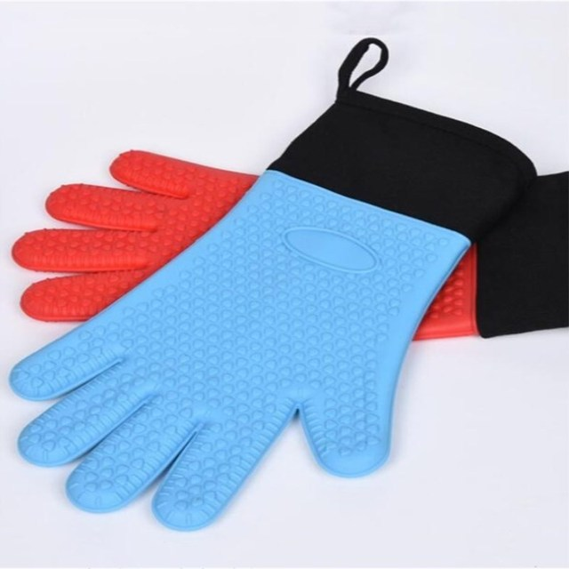 Silicone Cooking Gloves   Heat Resistant Oven Mitt For Grilling, BBQ, Kitchen  Safe Handling