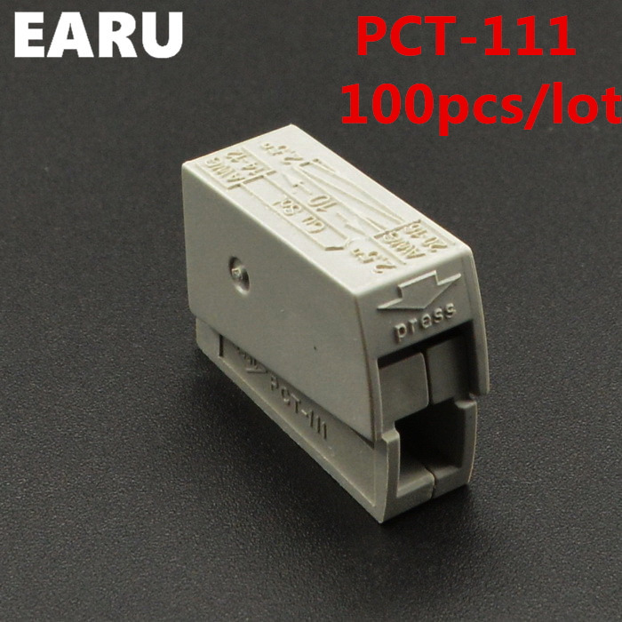100PCS PCT-111 PCT111 WAGO 224-101 Single 1 pin cable wire wiring connecting connector connectors for lamp durable hard Compact prikaz o vvedenii v gorode doneck osadnogo polozheniya