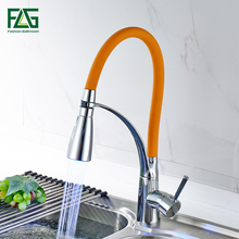 Hot Sale LED Swivel Spout Kitchen Sink Faucet Pull Out Hand Spray One Hole Mixer Tap Kitchen Faucet цена и фото