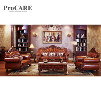 Factory top grain real genuine leather sofa from procare A938B