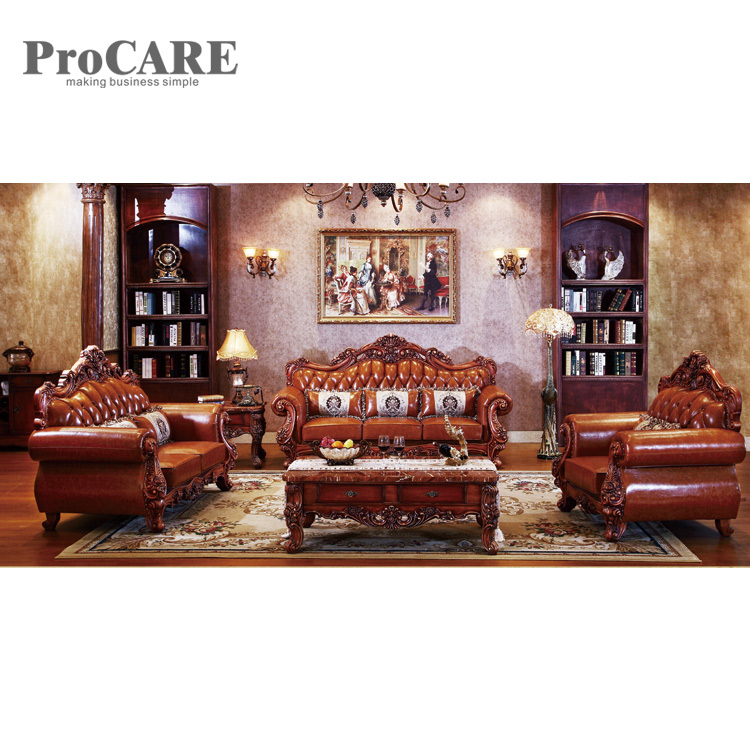 Factory top grain real genuine leather sofa from procare - A938B ...