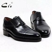 حذاء للرجال مصنوع يدويًا من الجلد ذو مقدمة مستديرة مخصص حسب الطلب من cie مقاس US6 14 حذاء رجالي من جلد العجل الأصلي النقي نعل خارجي أسود حذاء رجالي D153