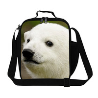New Arrival 3D Polar Bear Print Lunch Bag Waterproof Insulated Lunch Box For School Children Outdoor
