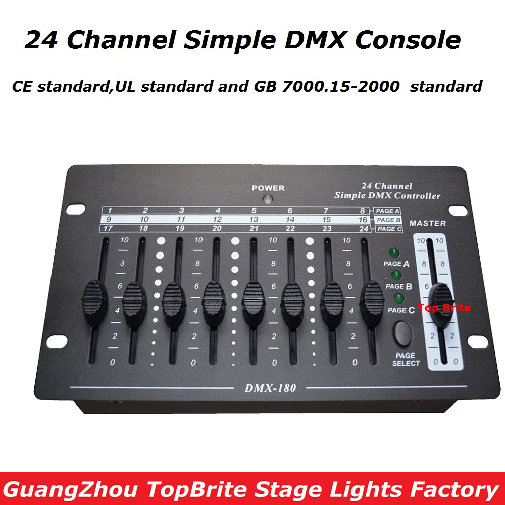 Big Discount High Quality 1Pcs/Lot 24 Channel Simple DMX Controller DMX 512 Console For Stage DJ Disco Lighting Fast Shipping 2xlot big discount 6 channel simple dmx controller for stage lighting 512 dmx console dj controller equipments free shipping