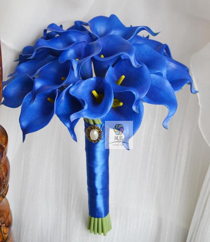 Букет каллы невесты с голубыми глазами, доставки