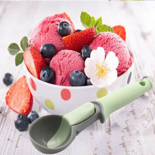 2019 New Ice Cream Tools Scoop Rubber Plastic Digging Ball Ice Cream Fruit Watermelon Spoon Handle in Ice Cream Scoops Stacks from Home Garden