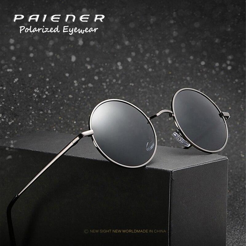 New Vintage steampunk lunettes de soleil Rondes Polarisée femmes marque designer en métal cadre lunettes de Soleil lunettes Oculos de sol uv400 Lunettes