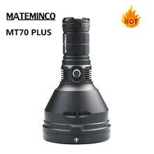 MATEMINCO MT70 artı süper güçlü el feneri CREE XHP70.2 max 6000 lümen projektör ışın atmak 1549 metre açık spor meşale