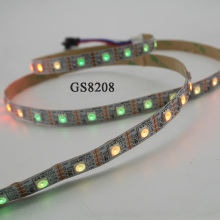 1m/3m/5m DC12V GS8208 smart pixel led strip;WS2811 Updated,IP30/IP65/IP67,Black/White,5050 SMD RGB;30/60/144 leds/m led tape