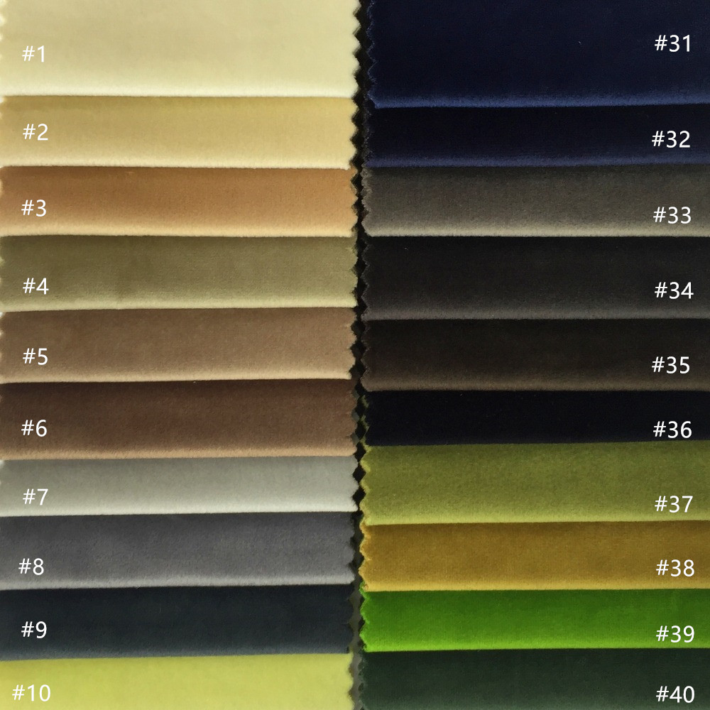 US $8 16 5% OFF 60 Colors Solid Plain Dye Dull Velvet Cloth Sofa Chair  Hotel Home Decoration Drapery Upholstery Fabric 140cm width Sell by  meter-in