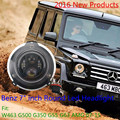 """1 компл. черный цвет 7 """" дюймовый круглый из светодиодов фар с полукольцо из светодиодов фары Maercedes Benz G класса фары для тэц-g350 G55 G63"""
