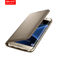 2016 SIKAI LED View Smart Cover For Sasmsung Galaxy S7 S7 Edge With Sleep Function Cover