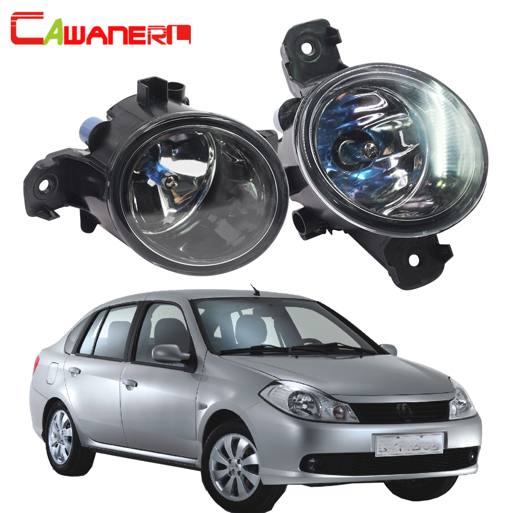 Cawanerl 2 Pieces 100W H11 Car Styling Halogen Fog Light DRL Daytime Running Lamp For Renault Symbol (LB0/1/2_) Saloon 1998-2010 cawanerl car styling led lamp fog light daytime running light drl 12v dc 2 pieces for renault scenic 2 ii jm0 jm1 mpv 2003 2009