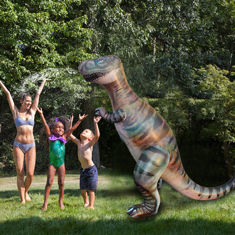 180 CM gonflable t-rex dinosaure Yard arroseur en plein air Sport Splash jouet enfants Dino herbe eau pulvérisateur arroseur piscine accessoires