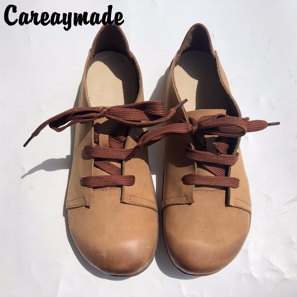 Careaymade-2018 новые туфли из натуральной кожи туфли настоящей ручной работы, художественная обувь в стиле ретро «MORI GIRL», женская повседневная об...