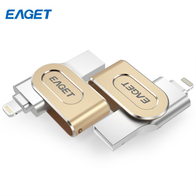 Eaget i80 OTG Pen Drive Fingerprint Feature USB 3.0 MFi USB Flash Drive 32GB 64GB 128GB for iPhone iPad iPod Pendrive USB Stick