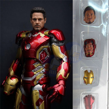 Marvels Super Heroes IronMan Action Figures MK43 Iron Man Dolls Mark XLIII Armor PVC Action Figure Collectible Model Toys gifts the avengers egg attack iron man patriot a i m ver super hero pvc ironman action figure collection model toy gift 18cm