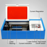 VEVOR Factory 40W Laser Cutter / CO2 Laser Engraving Machine / Laser Engraver for Arts and Crafts with USB Port