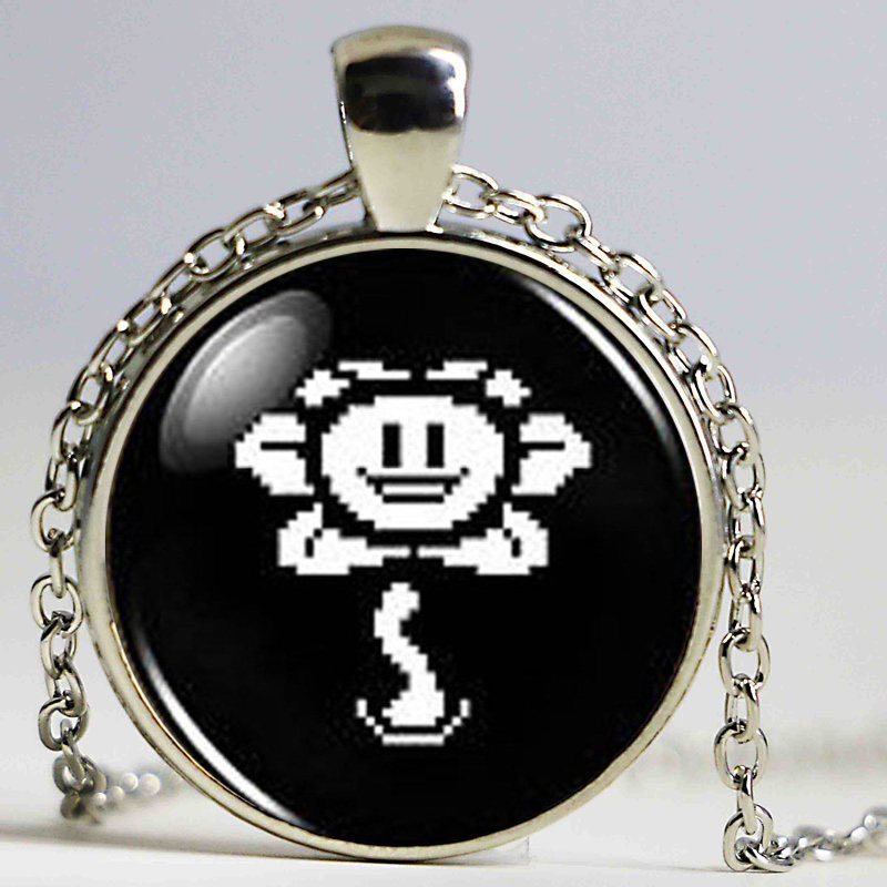 Undertale Sans Bad Time Game Gaming Handmade Fashion Necklace brass silver Pendant steampunk Jewelry women new chain toy mens