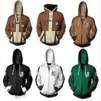 Anime Attack On Titan hoodie jacket Shingeki no Kyojin Legion Eren cosplay costume Plus size 5XL Sweatshirts Zipper Hoodies