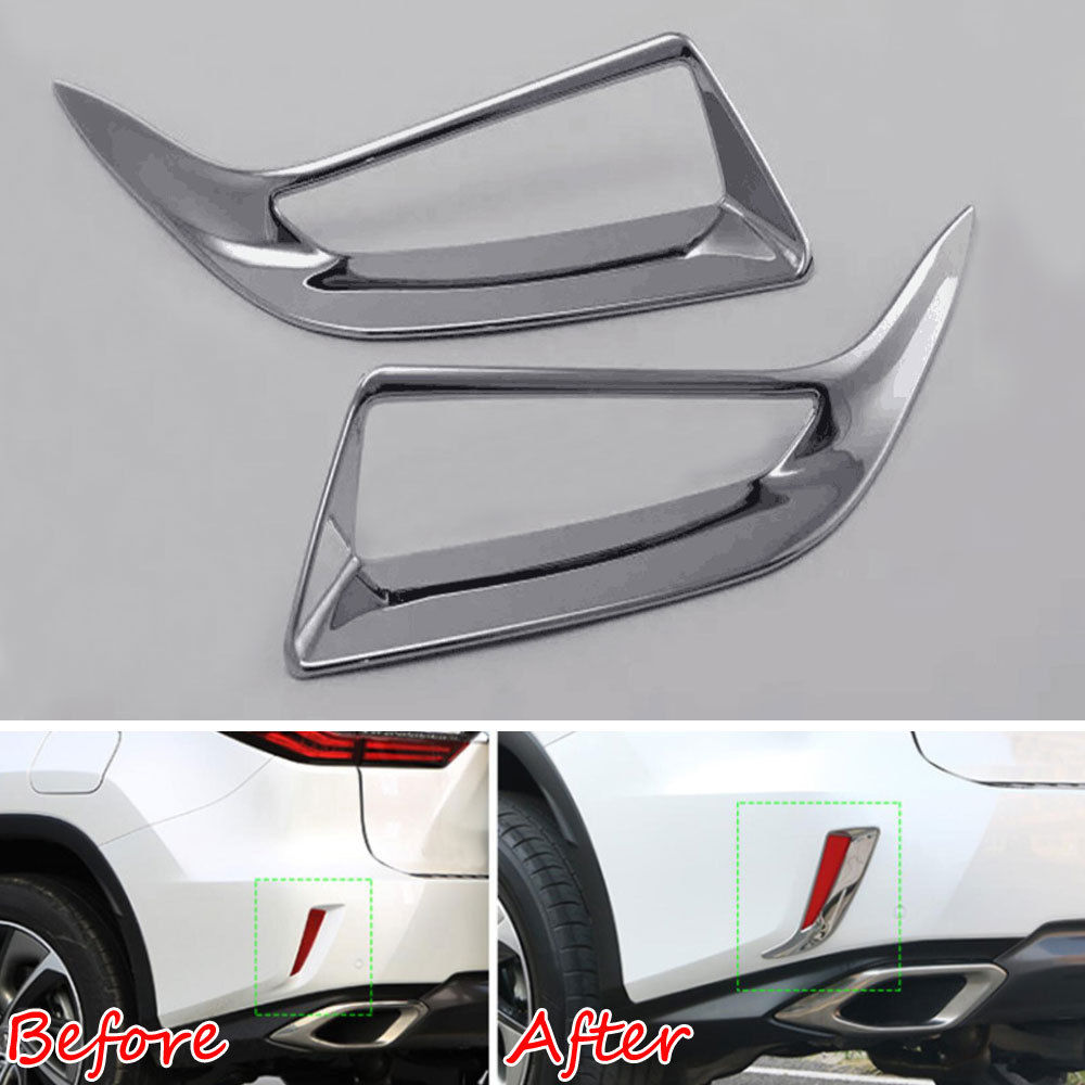 Accessories For Lexus RX 350 450h 2016-2019 ABS Rear Fog Lights Lamp Cover Trim