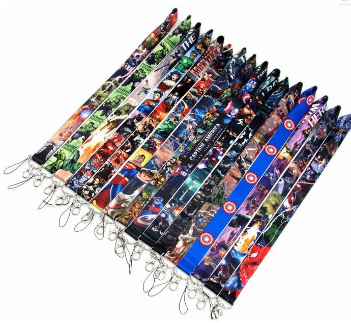 250 Pcs Populaire avengers superman batman Neck Bandjes Lanyards Id kaart, vrouwen sleutelhanger kids party gifts-in Sleutelhangers van Sieraden & accessoires op  Groep 1