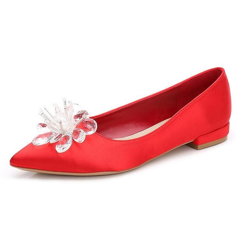 2019 Damen Satin 5 6 Cm D Crystal Flower Cinderella Schuhe Seidenpumpen eCxBod