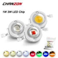 CHANZON-Chip LED de alta potencia, 10 unidades por lote, 1W, 3 W, blanco frío Natural cálido, blanco frío, rojo, verde, azul, amarillo, 1, 3 W, para bombilla de foco DIY