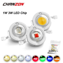 CHANZON 10pcs/lot High Power LED Chip 1W 3W Warm Natural Cold Cool White Red Green Blue Yellow 1 3 W Watt for DIY Spotlight Bulb(China)