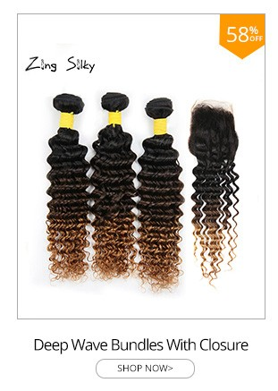 Deep Wave Ombre 1B430 Brazilian Human Hair 3 Bundles with Closure Remy Hair Weave Bundles with Closure zingsilky Hair Extensions