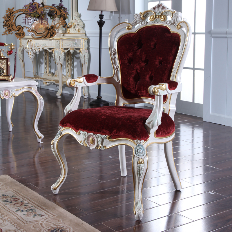 Leather Dining Chairs Power Lift Canada 2016 Italian Continental Restaurant Extravagance Furniture French Carved Wood Chair ...