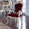 2016 Sillas de Restaurante Italiano Continental Extravagancia Muebles Francés Tallado De Madera Silla de Lujo Villa