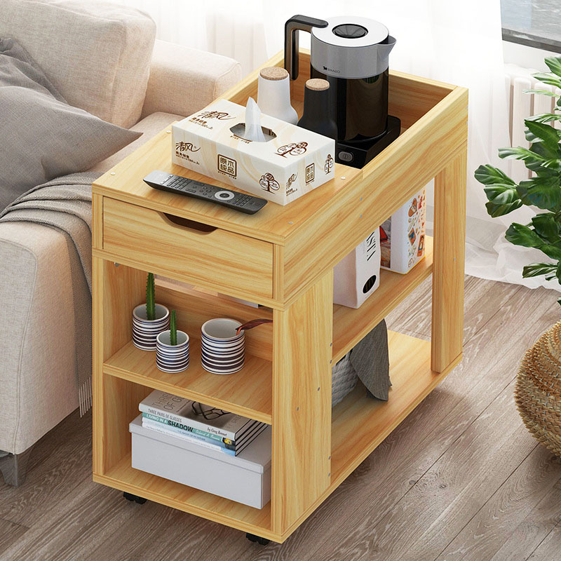 Solid Wooden Tea Table Side End Table Office Coffee Table Magazine Shelf Small Table Movable Living Room FurnitureSolid Wooden Tea Table Side End Table Office Coffee Table Magazine Shelf Small Table Movable Living Room Furniture