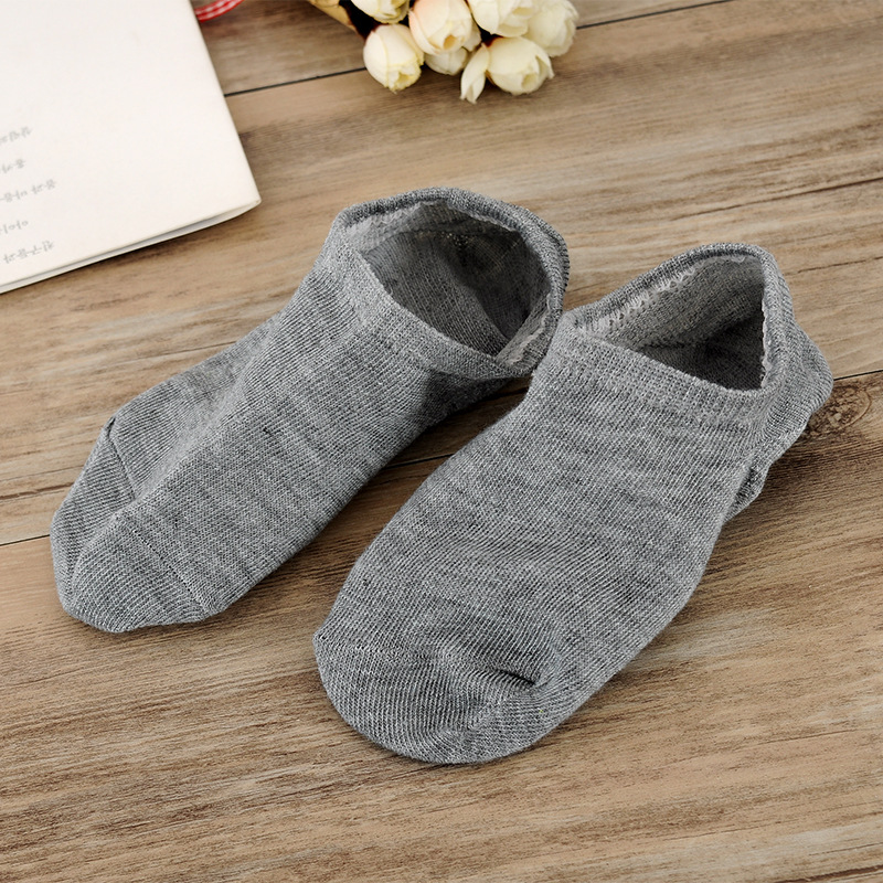 Lucidity Solid Color Socks Man Casual Fashion Invisible Men Socks Middle School Boat Male Summer Socks 5pairs/lot
