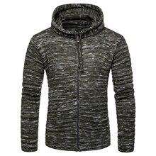 Winter Thick Warm hooded Sweater Men zipper cardigan Mens Sweaters Slim Fit Pullover Men Classic Wool Knitwear Pull Homm coat цена