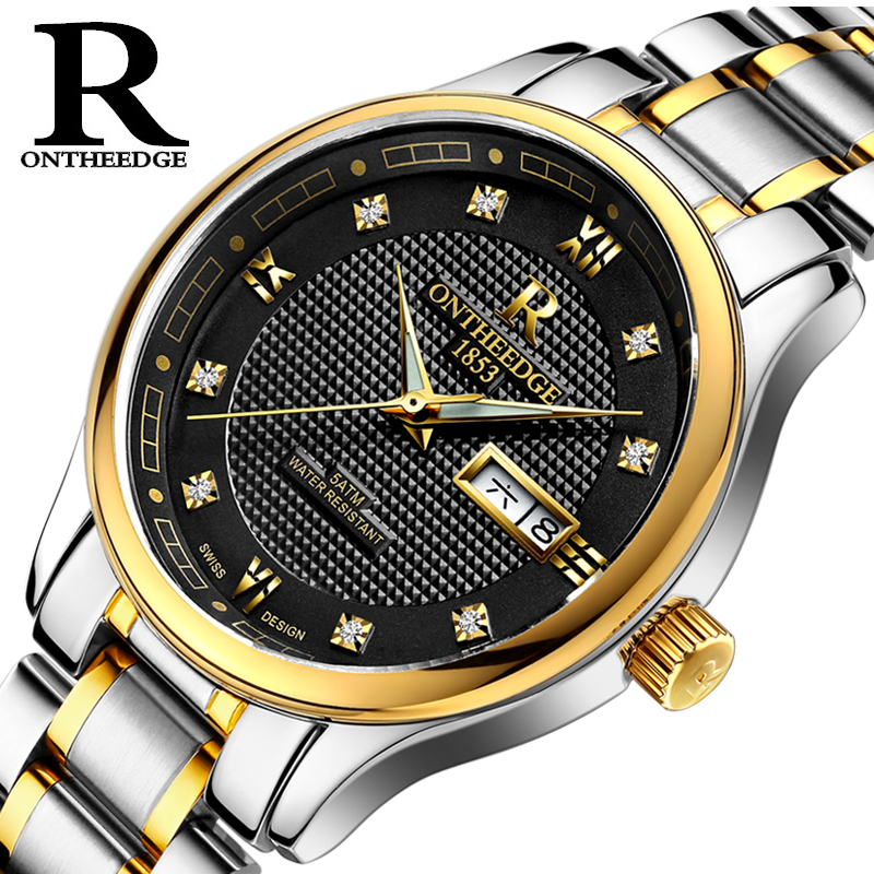 ONTHEEDGE Fashion Mens Watches Top Brand