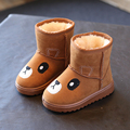 Дети ботинки мальчиков девочек сапоги теплый хлопок мода повседневная сапоги дети милый мультфильм малыш девушки сапоги мальчиков обувь обувь для девочек мальчиков обувь