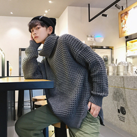 Autumn And Winter New Pattern Lovers Trend Youth High Easy Vent Sweater Male Japanese Teenagers Color