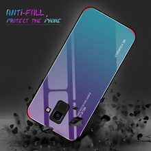 Gradient Glass Phone Case with Motivational Quote for Samsung
