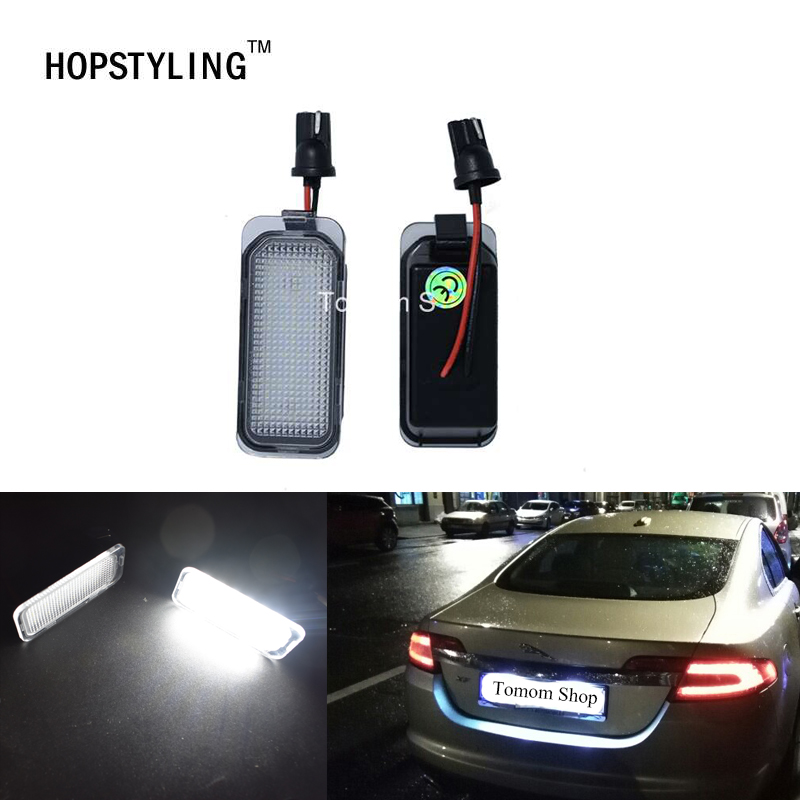 1 pair Error Free LED license plate light For Jaguar XF X250 XJ X351 auto rear number plate lamps car styling replacement 2x led car styling canbus no error code license plate lamp for smart fortwo rear number plate light auto accessory