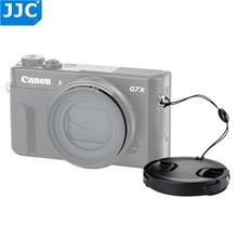 Adaptador de lente jjc 49mm, tampa de lente com kit de keeper para canon powershot g5x g7x mark ii