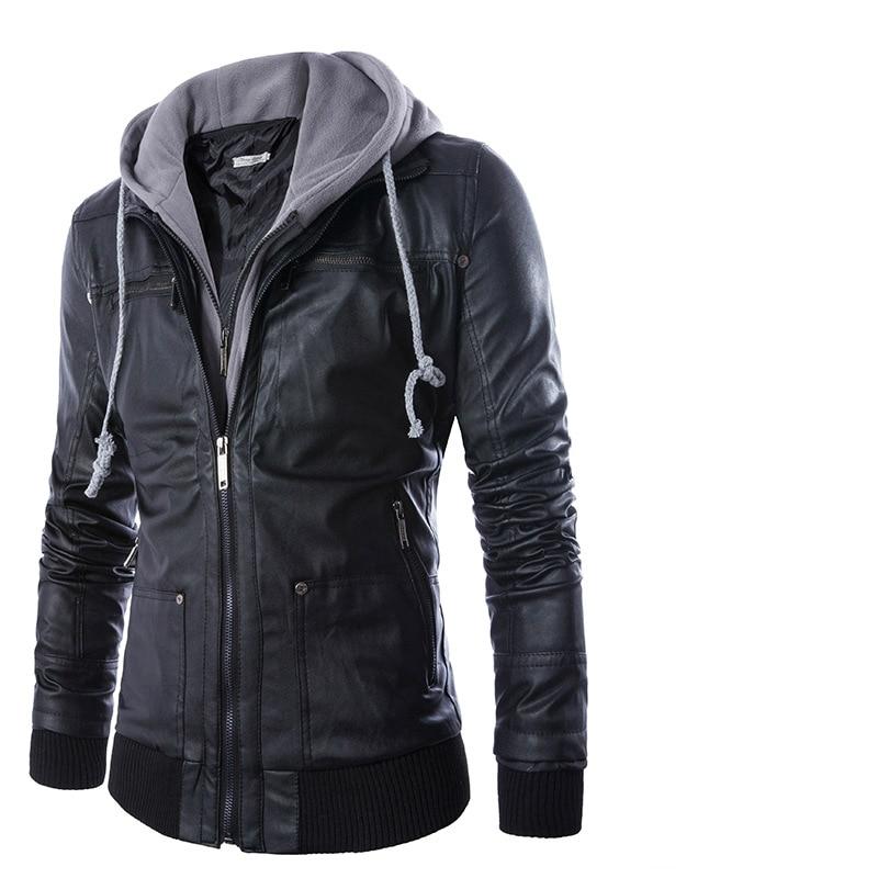 Online Get Cheap Leather Jacket Men Hoodie -Aliexpress.com