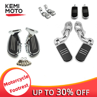 Chrome Motorcycle 1.25 Highway Foot Pegs & Mounting Clamps & Passenger Floorboards Footboards & Footrests Kits For Touring